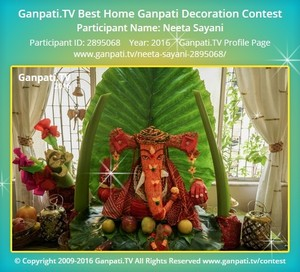 Neeta Sayani Ganpati Decoration