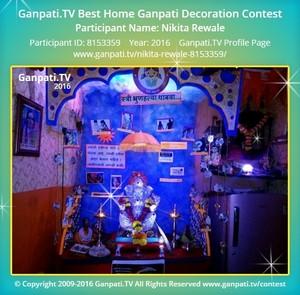 Nikita Rewale Ganpati Decoration