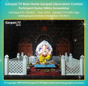 Nikita Sonawdekar Ganpati Decoration