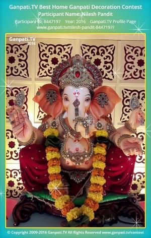 Nilesh Pandit Home Ganpati Picture