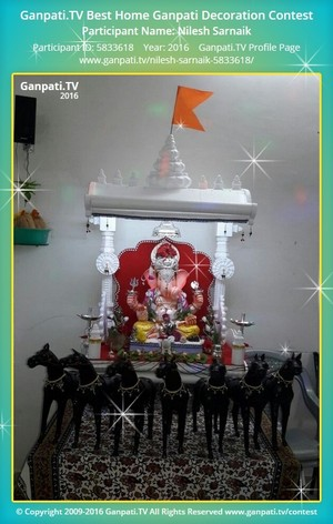 Nilesh Sarnaik Ganpati Decoration