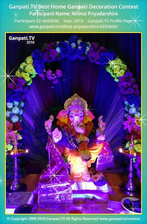 Nilima priyadarshini ganpati tv for Artificial flowers decoration for ganpati