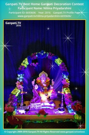 Nilima Priyadarshini Ganpati Decoration
