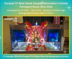 Nirav Shah Ganpati Decoration