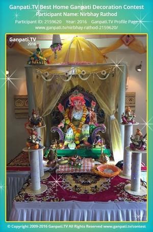 Nirbhay Rathod Ganpati Decoration