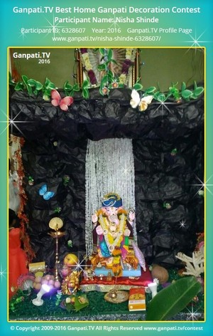 Nisha Shinde Ganpati Decoration
