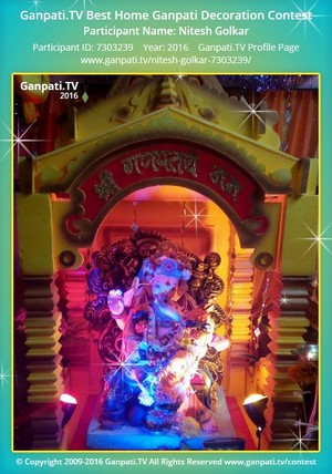 Nitesh Golkar Ganpati Decoration