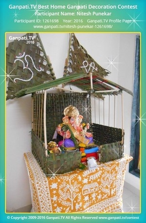 Nitesh Punekar Ganpati Decoration