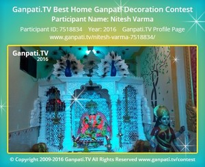 Nitesh Varma Ganpati Decoration