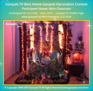 Nitin Chaurasia Ganpati Decoration