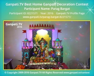 Parag Bargat Ganpati Decoration