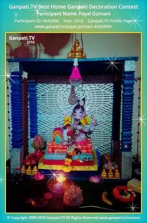 Payal Gurnani Ganpati Decoration