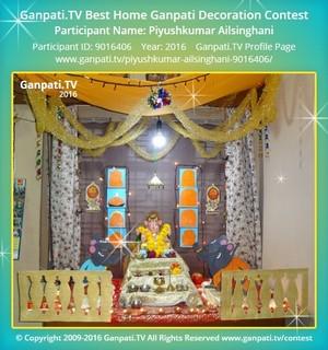 Piyushkumar Ailsinghani Ganpati Decoration