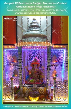 Pooja Pendharkar Ganpati Decoration