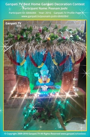 Poonam Joshi Ganpati Decoration