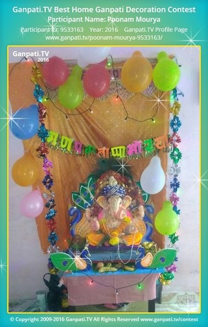 Poonam Mourya Ganpati Decoration
