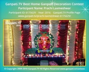 Prachi Laxmeshwar Ganpati Decoration