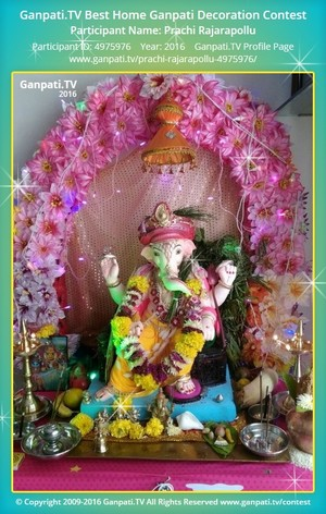Prachi Rajarapollu Ganpati Decoration