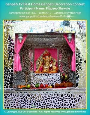 Pradeep Shewale Home Ganpati Picture