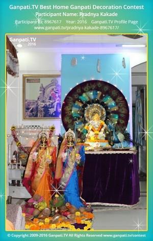 Pradnya Kakade Ganpati Decoration