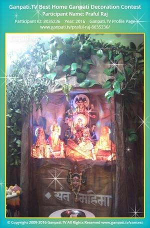 Praful Raj Ganpati Decoration