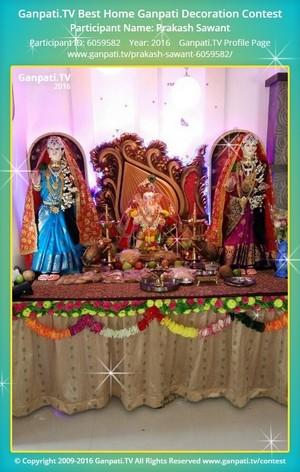 Prakash Sawant Ganpati Decoration
