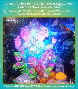 Pranali Satvilkar Ganpati Decoration