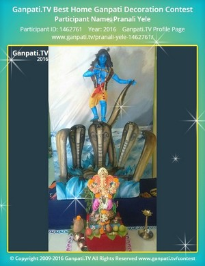 Pranali Yele Ganpati Decoration