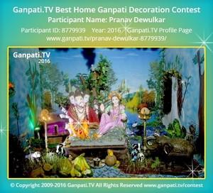 Pranav Dewulkar Ganpati Decoration
