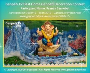 Pranav Sarnobat Ganpati Decoration