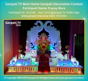 Pranay More Ganpati Decoration