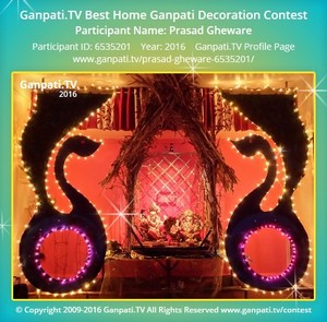 Prasad Gheware Ganpati Decoration