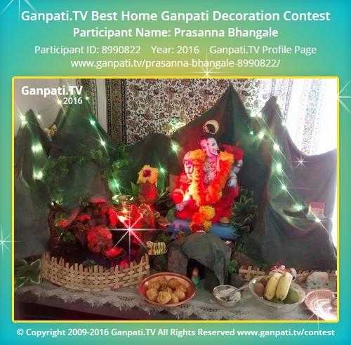Prasanna bhangale ganpati tv for Artificial flowers decoration for ganpati