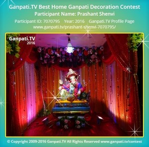Prashant Shenvi Ganpati Decoration