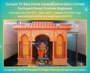 Prashant Waghmare Ganpati Decoration
