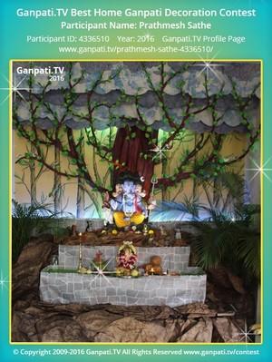 Prathmesh Sathe Home Ganpati Picture
