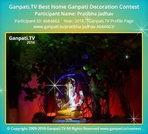 Pratibha Jadhav Ganpati Decoration