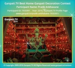 Pratik Anbhavane Ganpati Decoration