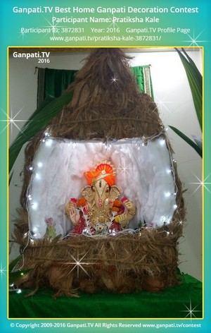 Pratiksha Kale Ganpati Decoration