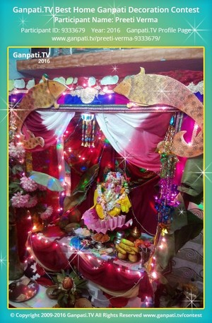 Preeti Verma Ganpati Decoration
