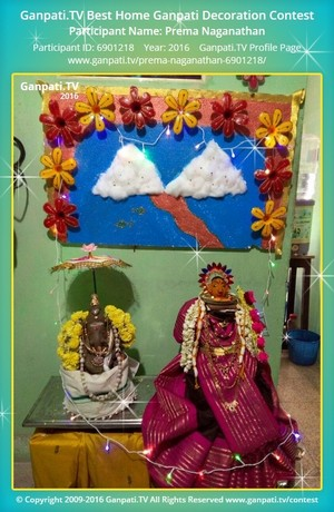 Prema Naganathan Ganpati Decoration