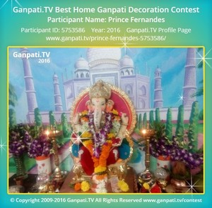 Prince Fernandes Ganpati Decoration