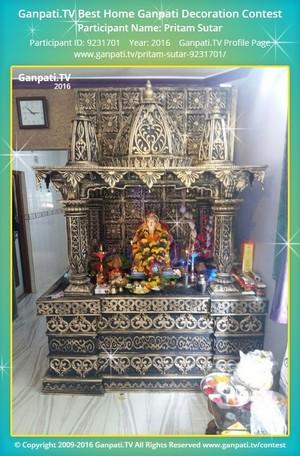 Pritam Sutar Ganpati Decoration