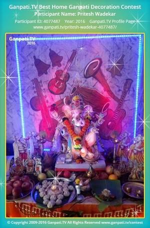 Pritesh Wadekar Home Ganpati Picture
