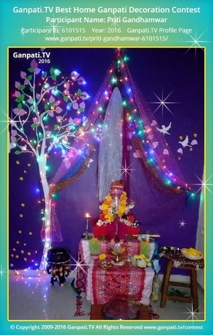 Priti Gandhamwar Ganpati Decoration