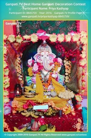 Priya Kashyap Ganpati Decoration