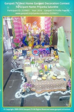 Priyanka Salunkhe Ganpati Decoration