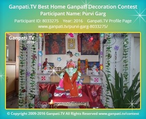 Purvi Garg Ganpati Decoration
