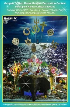 Pushparaj Sawant Ganpati Decoration
