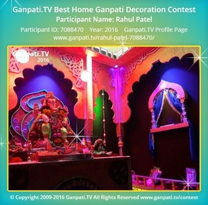 Rahul Patel Ganpati Decoration